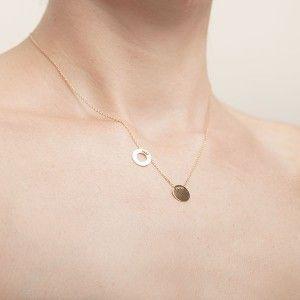 Naszyjnik Celebrytka Lancuszek Z Dwoma Koleczkami Pozlacany Necklace Gold Necklace Silver Necklace