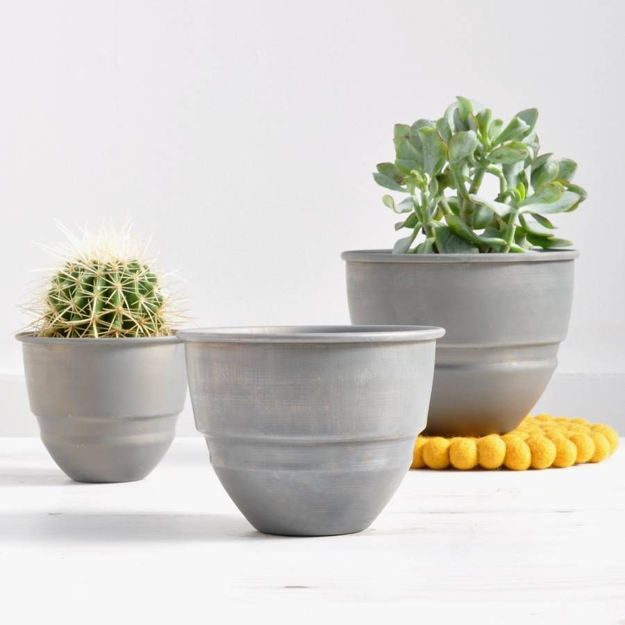 From left small pot medium pot and large pot indoor