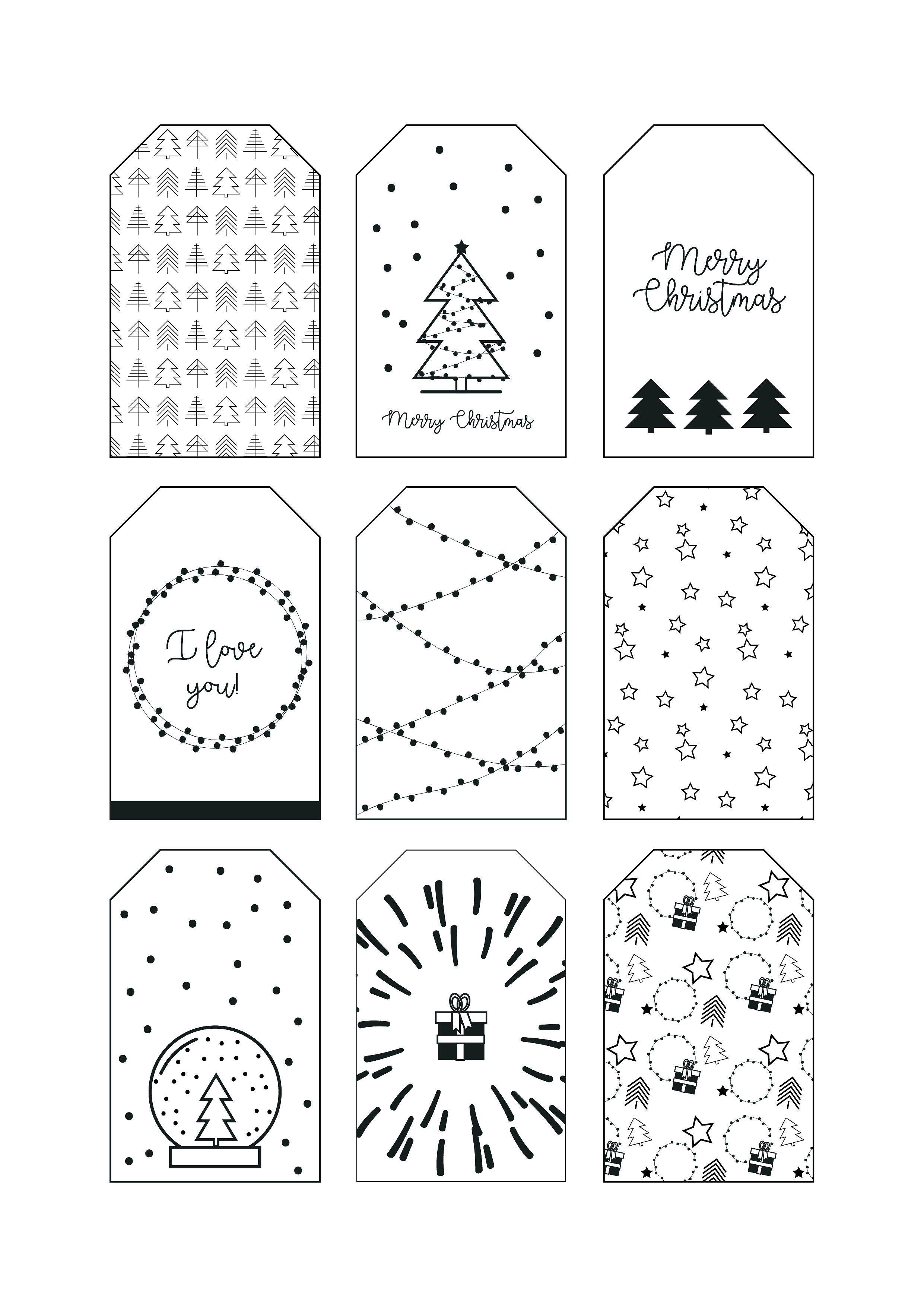 Christmas Tags 3 Christmas Paterns Christmas Tag Christmas Gift Tags Printable Christmas Gift Tags