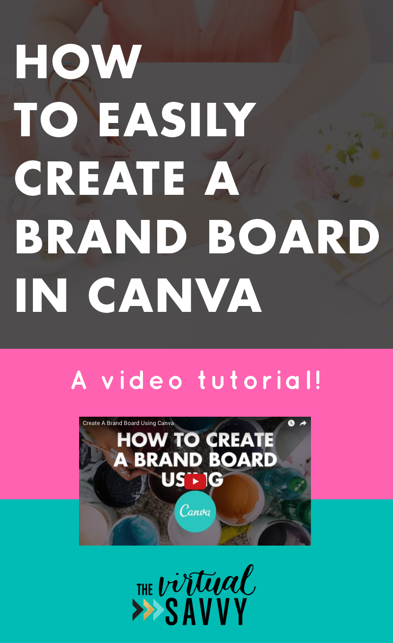 Watch this video tutorial on creating a mood board for free with Canva!! via The Virtual Savvy