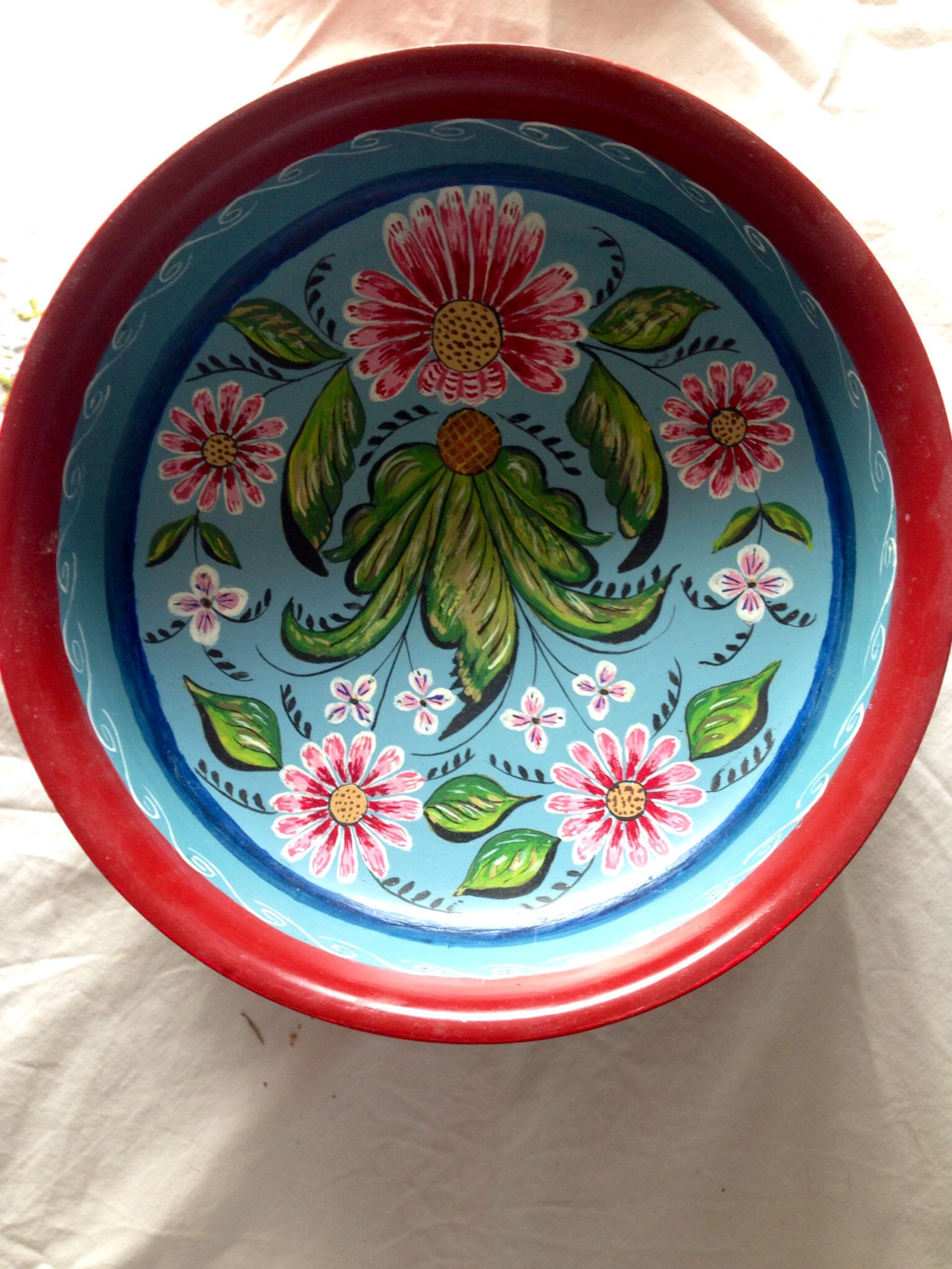 Rosemaling Artist And Area Unknown