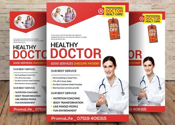 Doctor Flyer  Flyer Template Business Flyers And Template