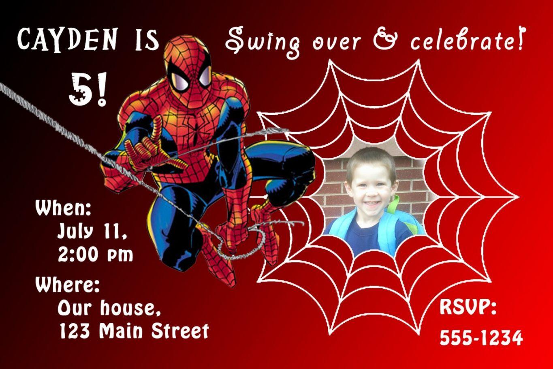the stunning new spiderman invitation templates hd quality
