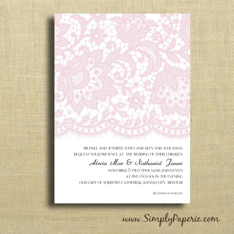 I Like This Lace Design For He Other Cards In The Invite Rsvp