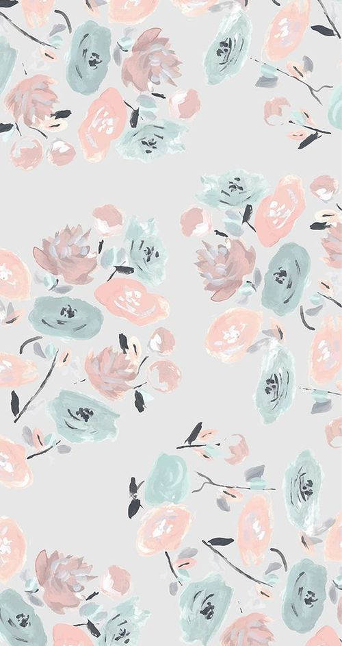 Pastel Floral Pattern Iphone Wallpaper On We Heart It