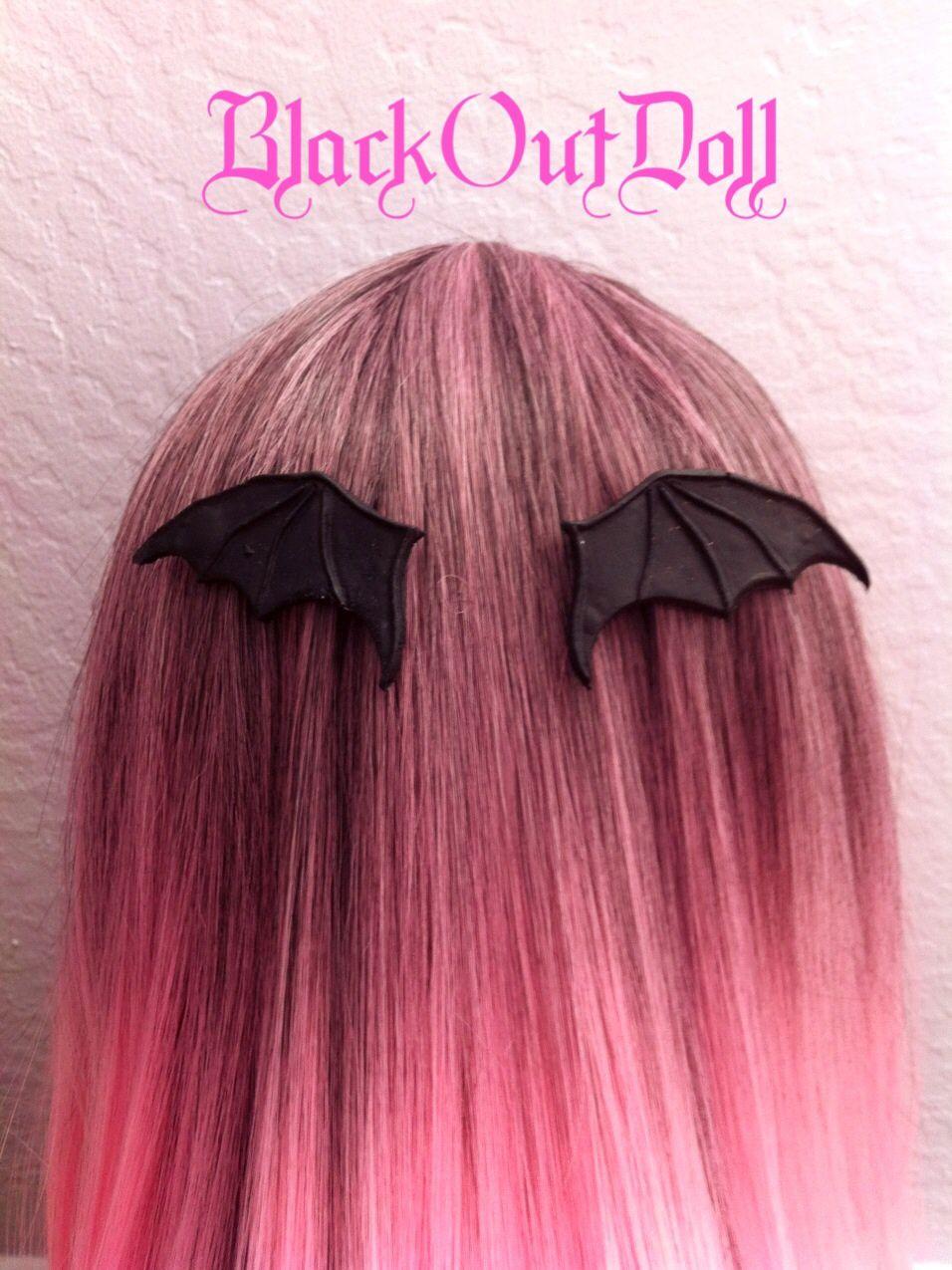 black bat wing hair clip