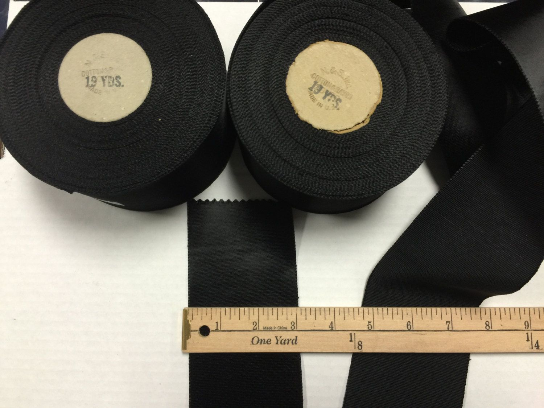 "10 Yard SPOOL Brown 4 1//4/"" Silk  cotton TAFFETA RIBBON TRIM VTG ANTQ Made in USA"