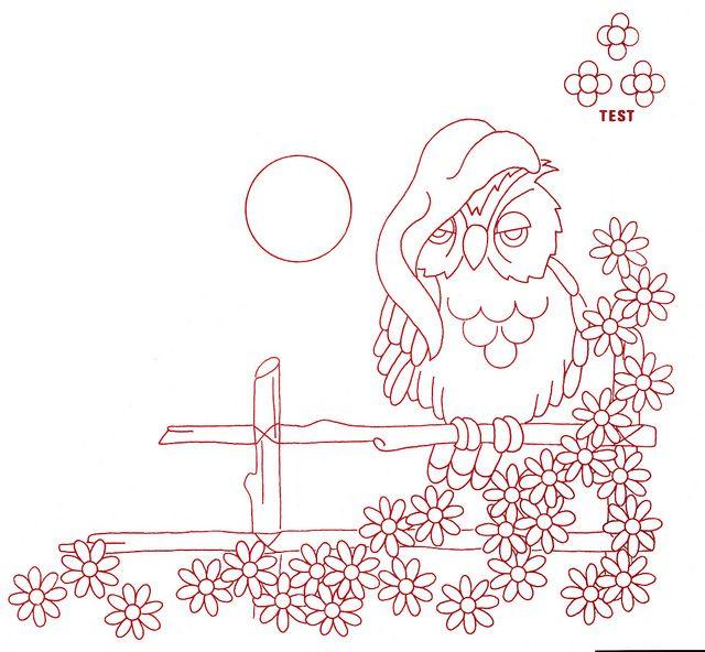 sleepy owl | Bordado, Dibujo y Molde