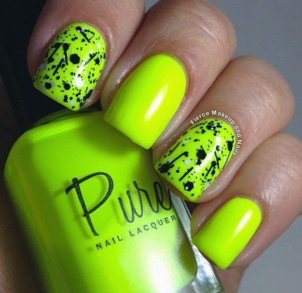 Uñas de neon ~ Los colores pueden ser aún más brillantes - Neon ...
