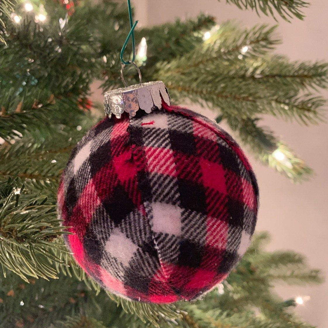 Holiday Plaid Christmas Ornaments. Set. Tartan Christmas, Cabin Holiday, Tree Decoration ...