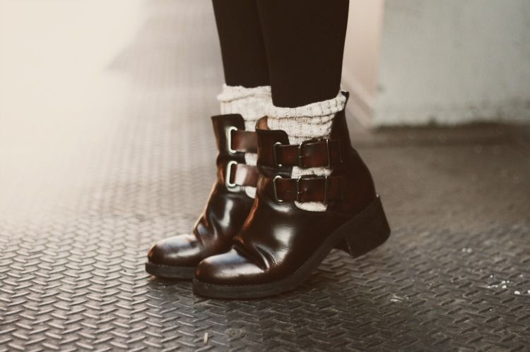 09df702c17e0 so ready for fall - cut out boots with socks and leggings... yes ...