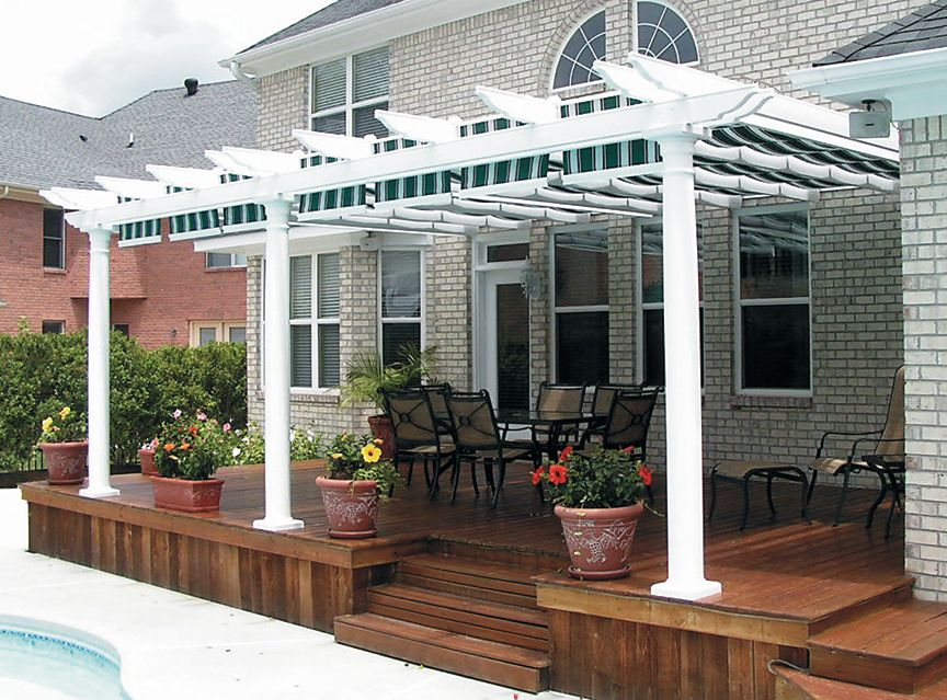 pergolas/canopies | Canopy and track kits are available to fit under or between the & pergolas/canopies | Canopy and track kits are available to fit ...