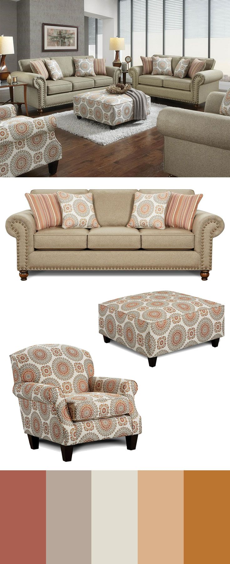 Make An Elegant Impression On Friends And Family With The Classic Details Displayed Throughout This Upholstery Collection Sty Royal Furniture Sofa Design Living Room Furniture