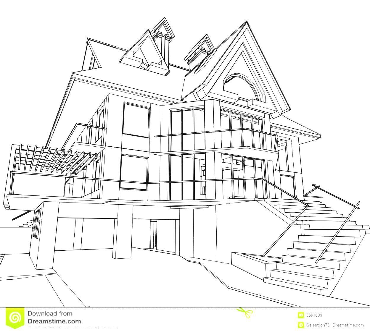 Tree House Perspective Drawing House Design Drawing House Drawing Dream House Drawing