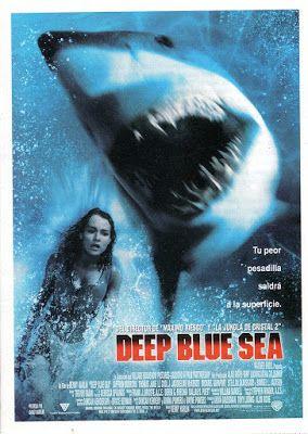 El Señor De Los Bloguiños Deep Blue Sea 1999 De Renny Harlin Peliculas De Tiburones Peliculas De Terror Peliculas De Comedia
