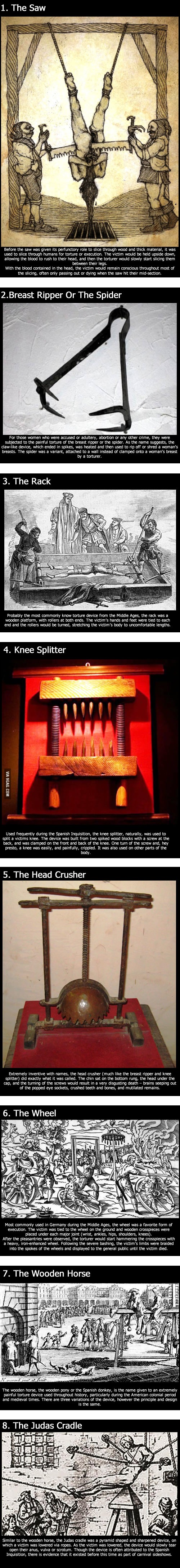 Enjoy The 8 Most Painful Torture Devices Of The Middle Ages....[WTF was wrong with Europe and medieval people??]