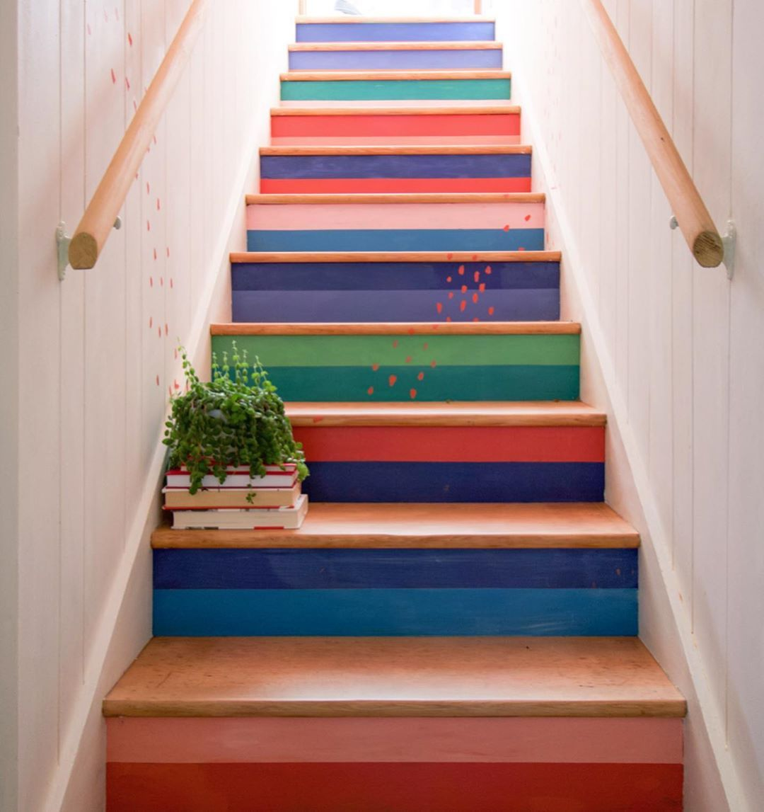 51 Stunning Staircase Design Ideas: 51 SPECTACULAR Painted Stairs Projects!
