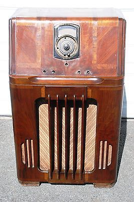 Vintage 1930 S Philco 38 116 Console Radio Unrestored