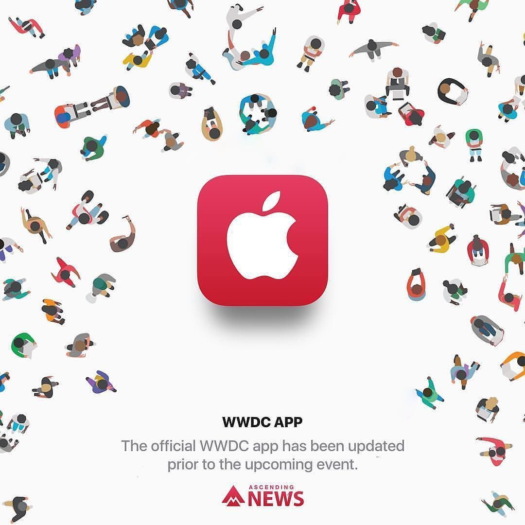 Apple has updated its official WWDC app prior to the event