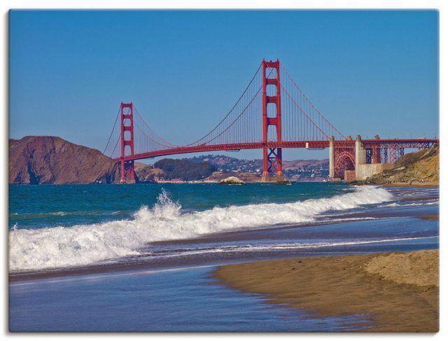 Artland Kunstdruck Poster »Melanie Viola: Golden Gate Bridge Baker Beach« online kaufen | OTTO #interiordesignmagazine