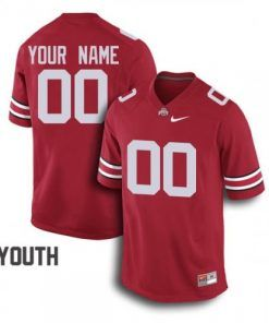 Youth Ohio State Buckeyes Custom Name Number Jersey Red Football - Newcanva