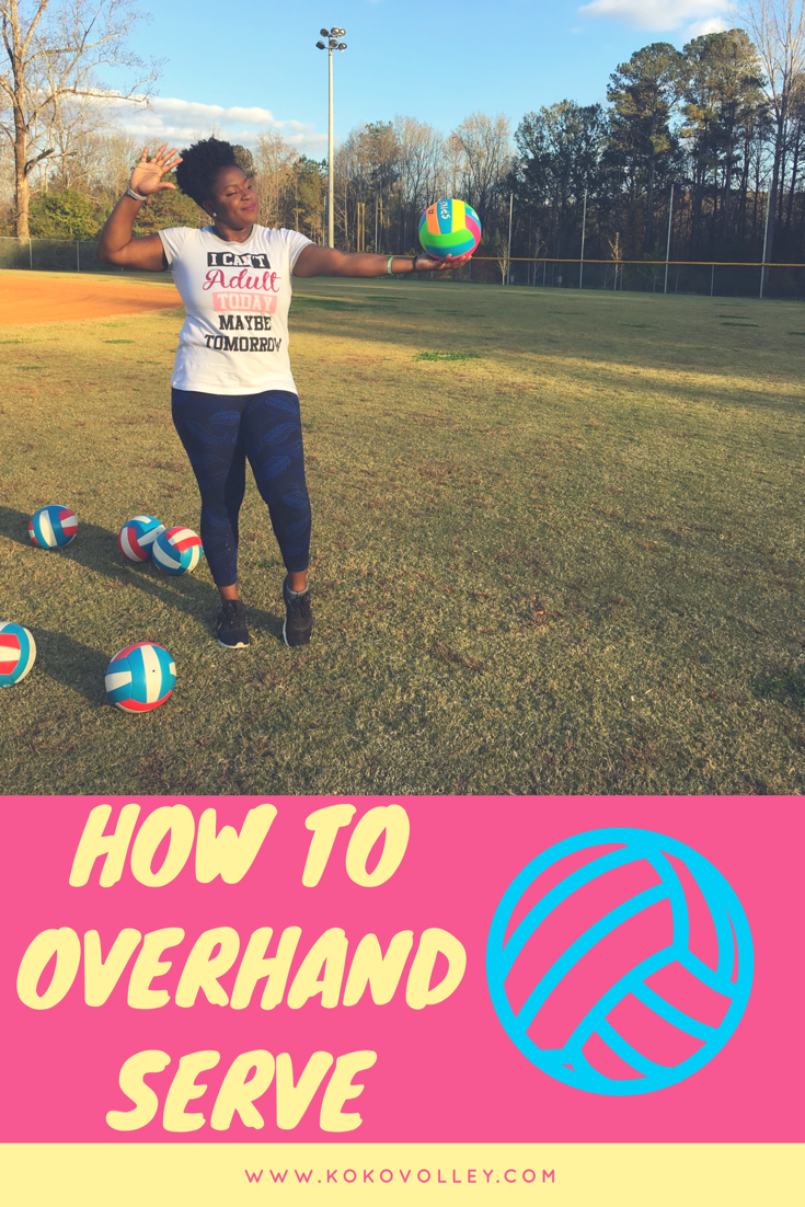 Have You Ever Wanted To Learn How To Overhand Serve Here Is Your Chance A Wonderful Tutorial On How To Overhand Serve As A Begi Volleyball Learning Beginners