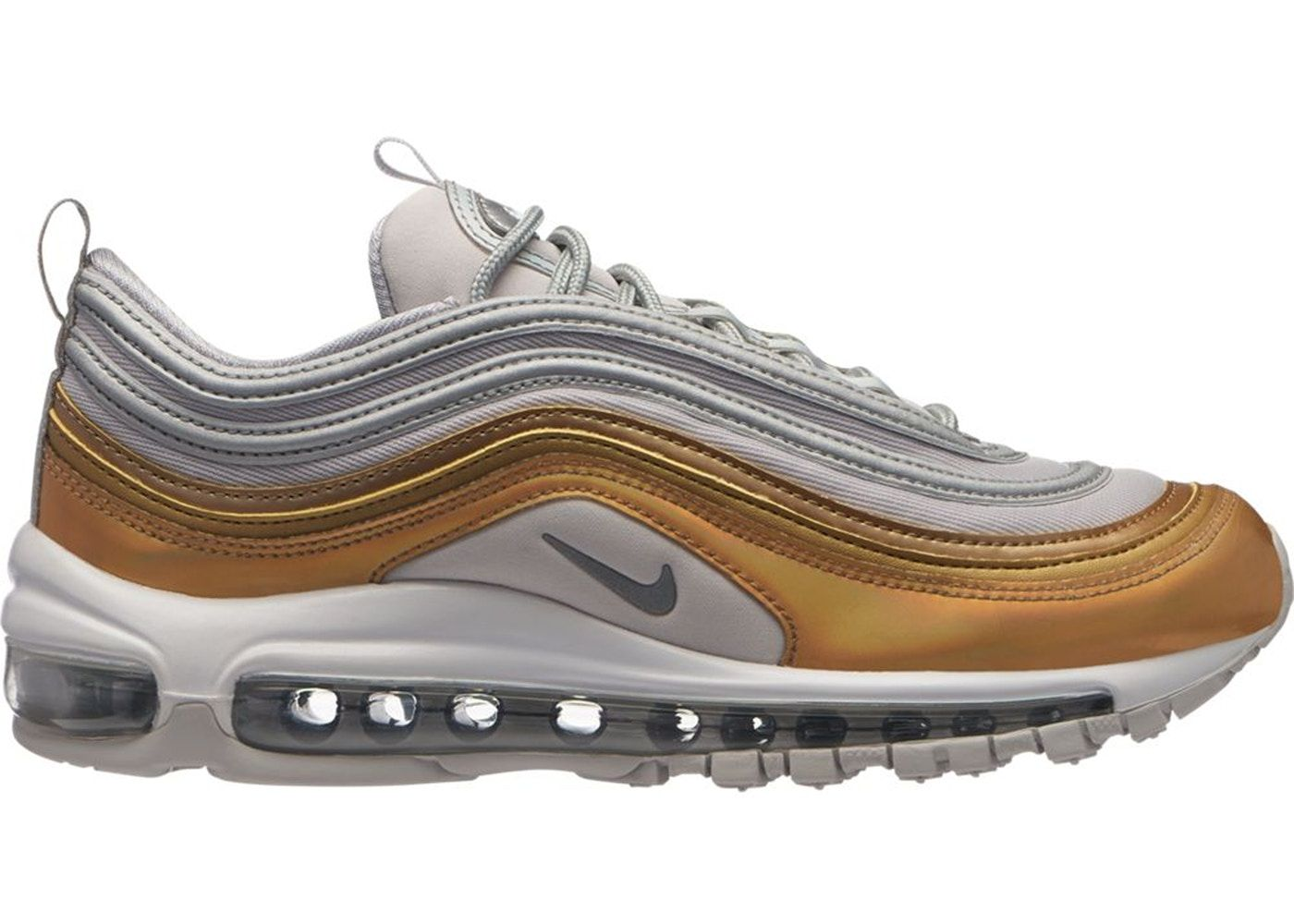 Check out the Air Max 97 Vast Grey Metallic Gold (W) available on StockX c74607c33
