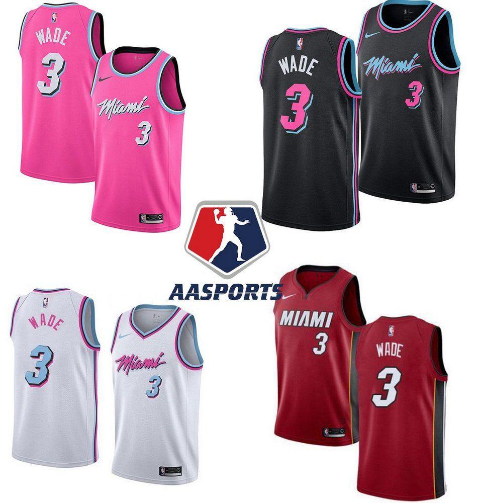 Camisa Miami Heat City Edition Rosa 3 Dwyane Wade Dwyane Wade Miami Heat Miami