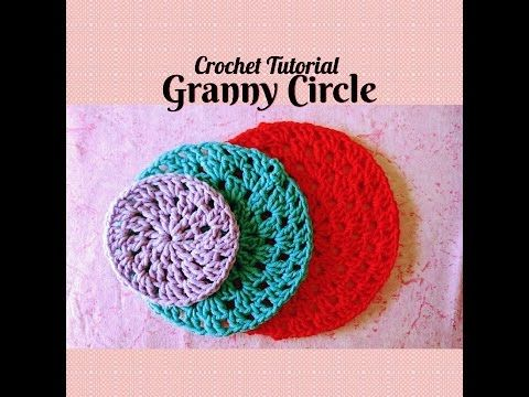 Crochet Made Easy - How to make a Granny Circle (Tutorial) ♥ Pearl ...