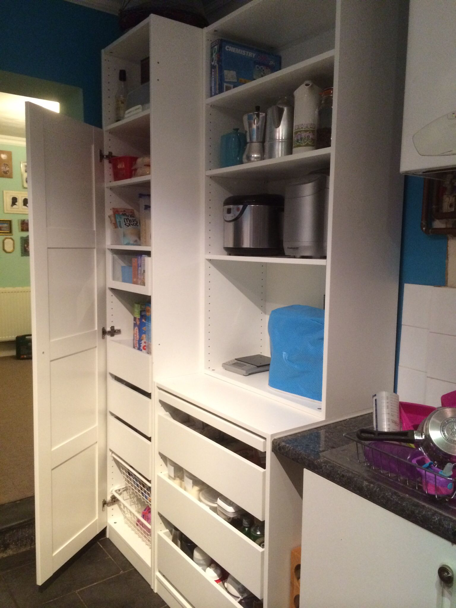 Ikea Pax to kitchen pantry! | house interior and diy hacks ...