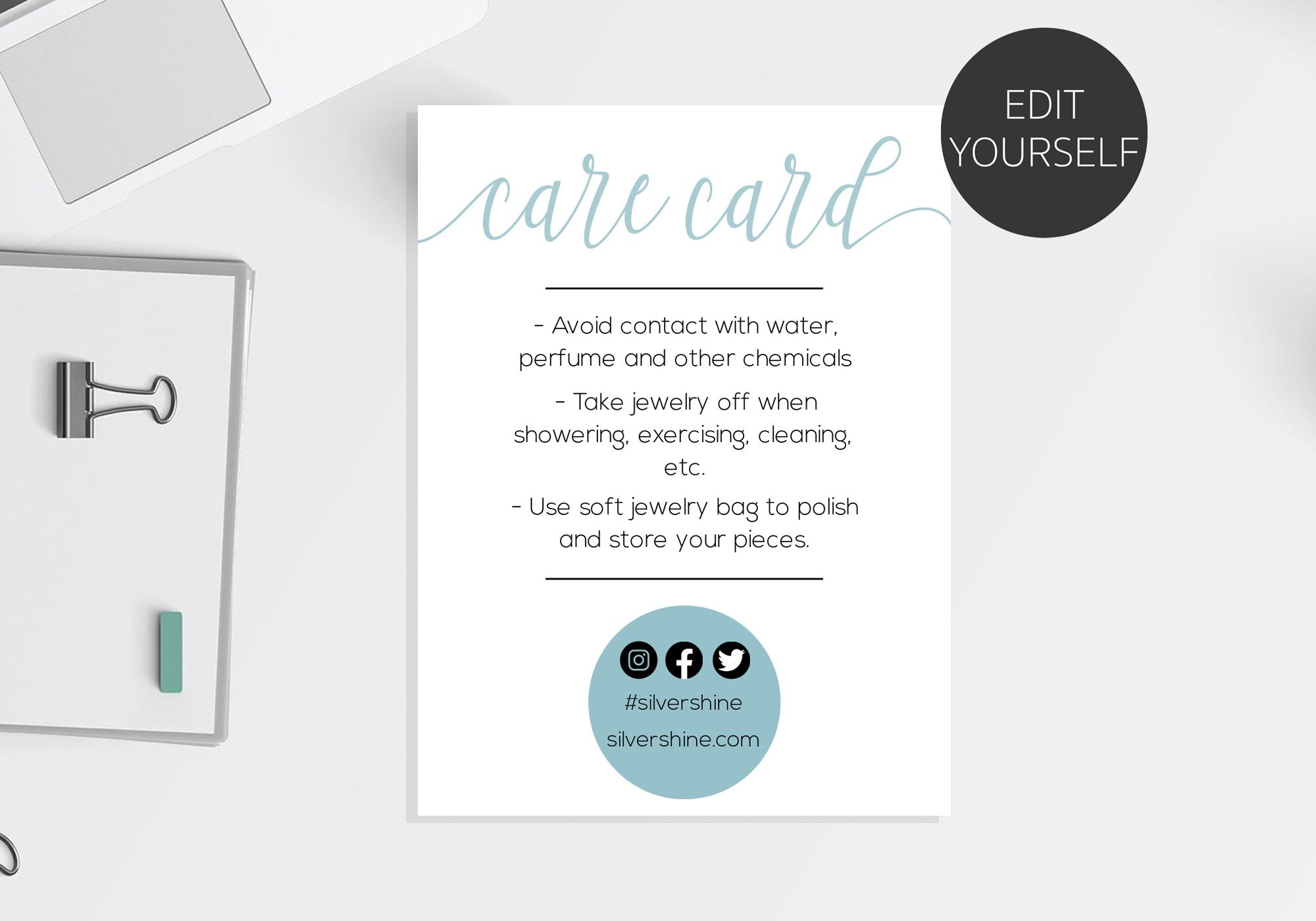 Care Card Care Instructions Card Care Card Template Jewelry Etsy In 2021 Cards Jewelry Care Instructions Card Template