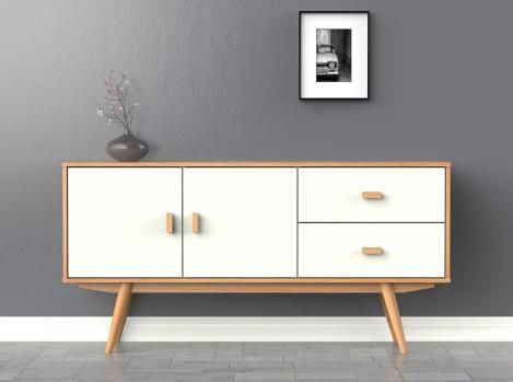 Scandi Sideboard Large White Buffet Scandinavian Retro Scandinavian Style Furniture Sideboard Scandinavian Scandinavian Furniture Design