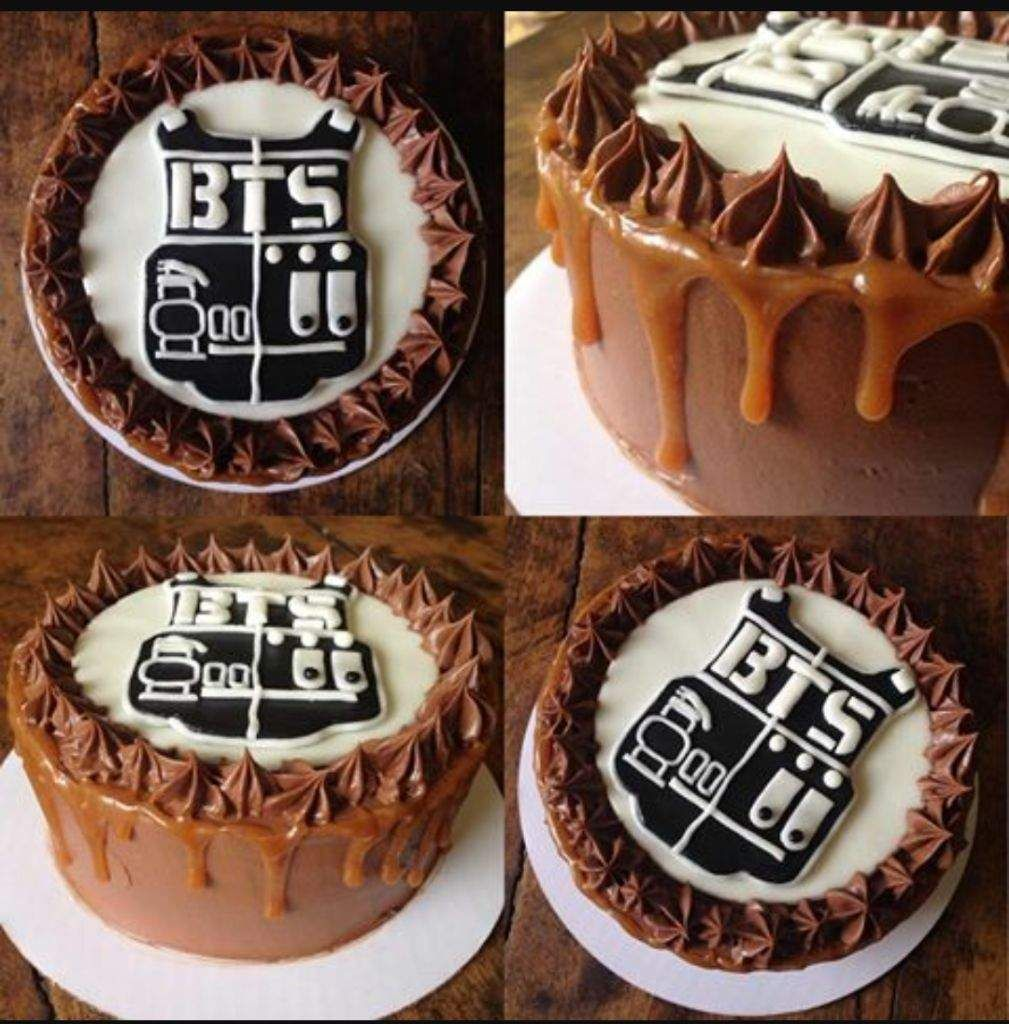 I Found These Amazing Looking Bts Sweets And Desserts On The Internet They Make My Mouth Water I Bts Cake Sweets Sweet 16 Cakes