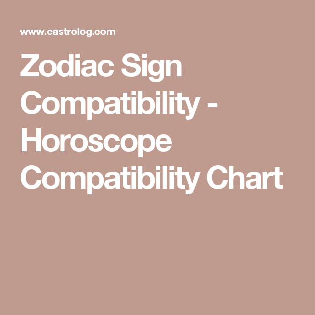 Zodiac Sign Compatibility - Horoscope Compatibility Chart