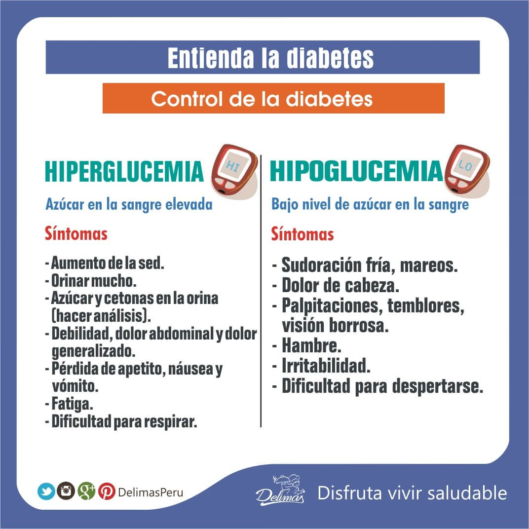 hiperglucemia vs hipoglucemia diabetes 1