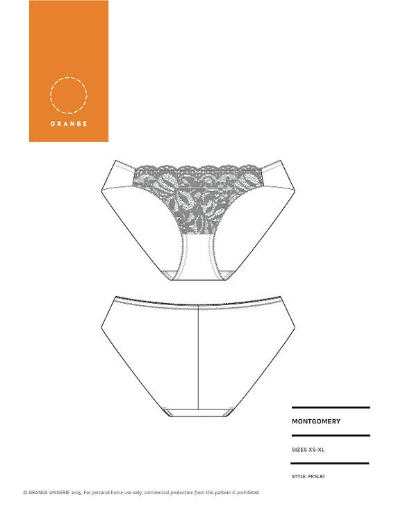 Instant Download PDF lingerie sewing pattern for hipster brief ...