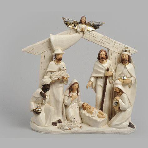 cr che de no l terre cuite 10 santons cr ches avec santons nativity sets. Black Bedroom Furniture Sets. Home Design Ideas