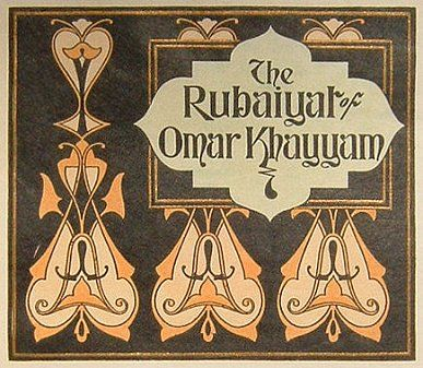 Ttile page, The Rubaiyat of Omar Khayyam, Title page, initials and drawings designed by W.W. Denslow.  1906