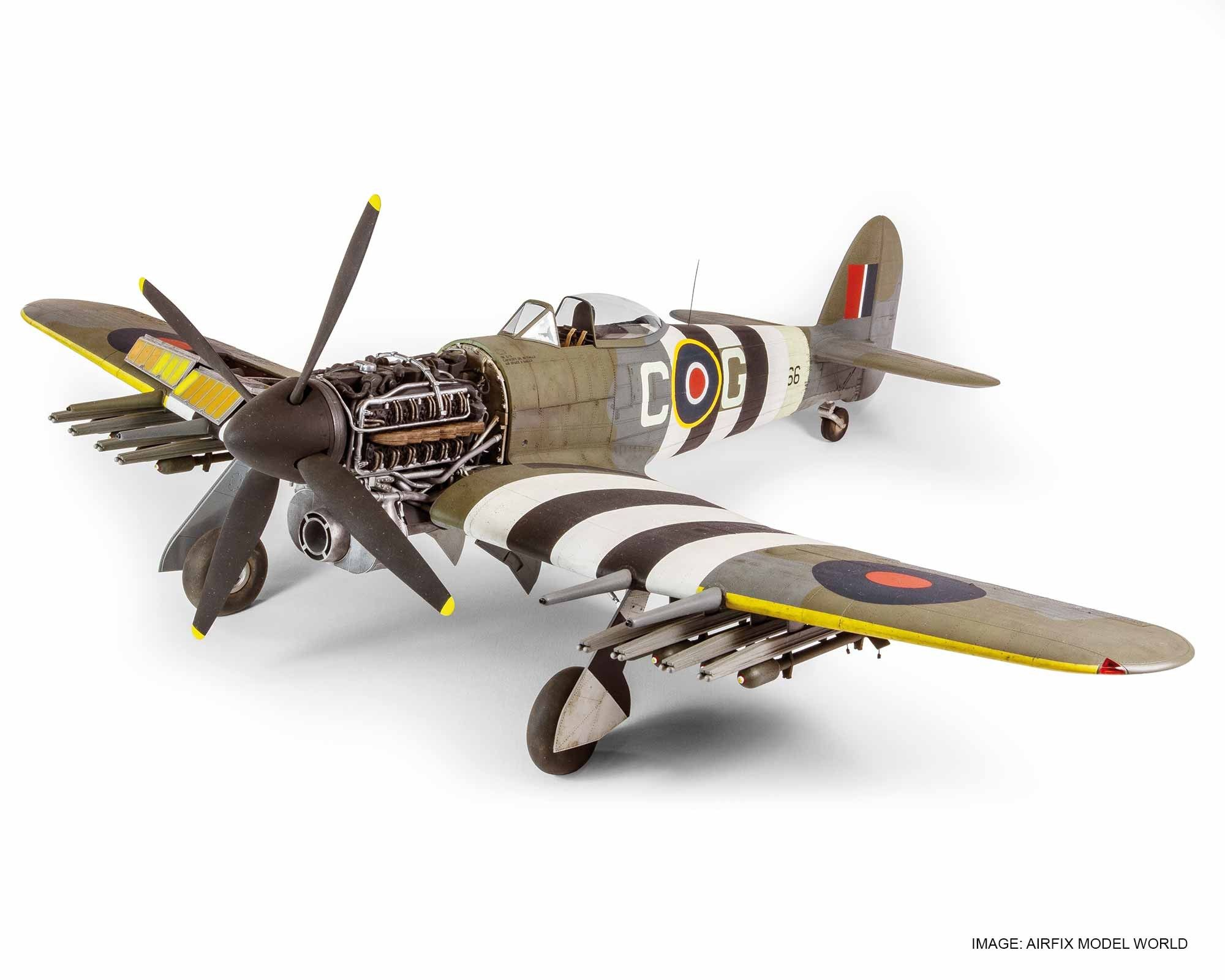 New in a super detailed scale model of the legendary ground attack hawker typhoon mkib this fantastic model has been created using our advanced cad design