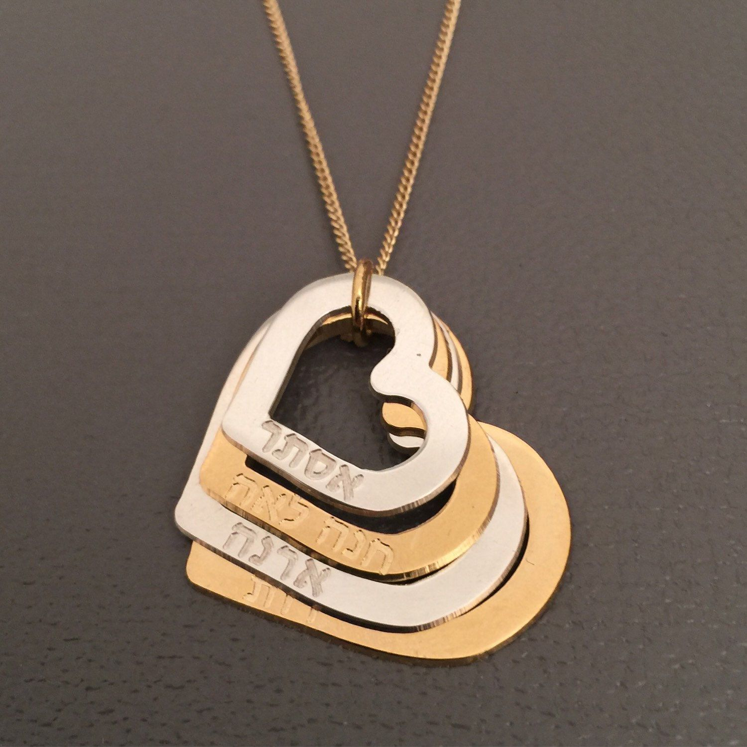 Mom necklace names hearts mothers day gifts mothers necklace mommy necklace childrens names hearts gold silver aloadofball Gallery