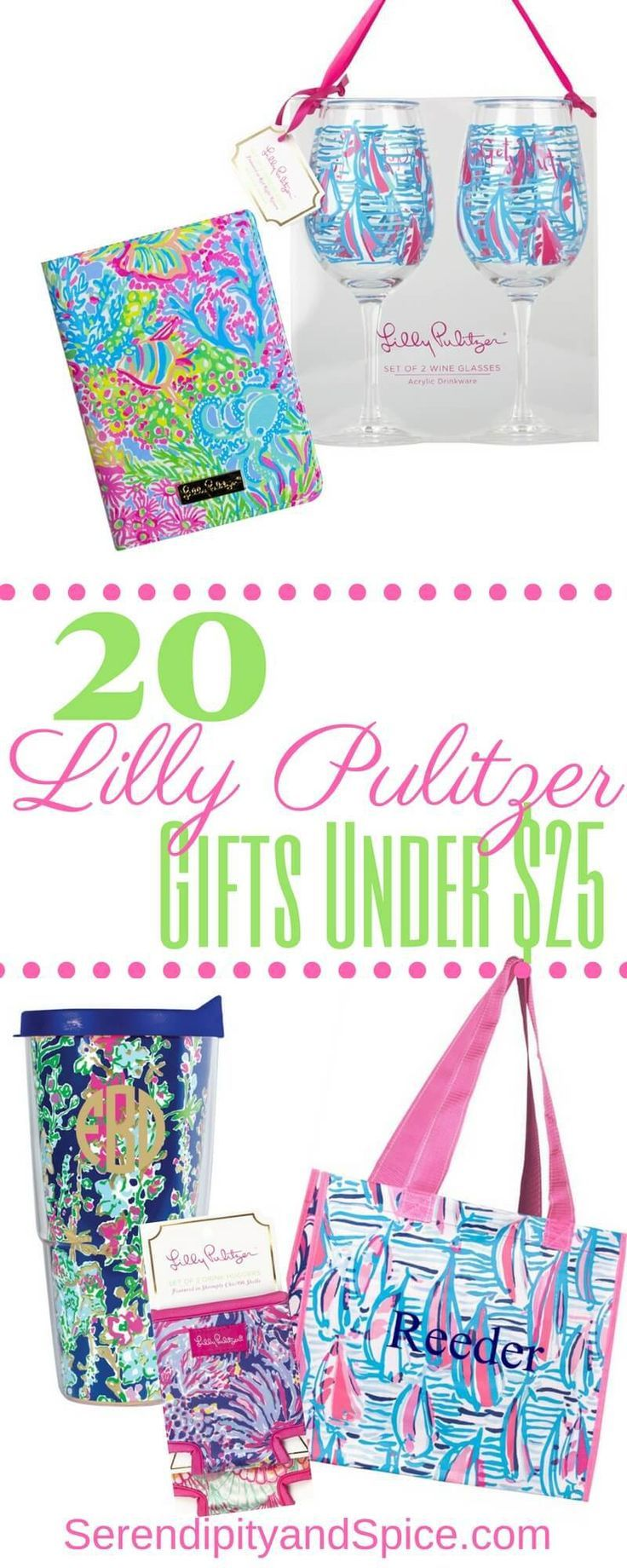 Gifts for Her Lilly Pulitzer Under 25 Birthday gifts