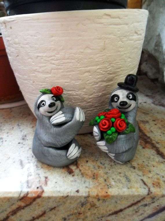 Sloth Wedding Cake Topper Choose Your By Uniqueboutiquejasmin