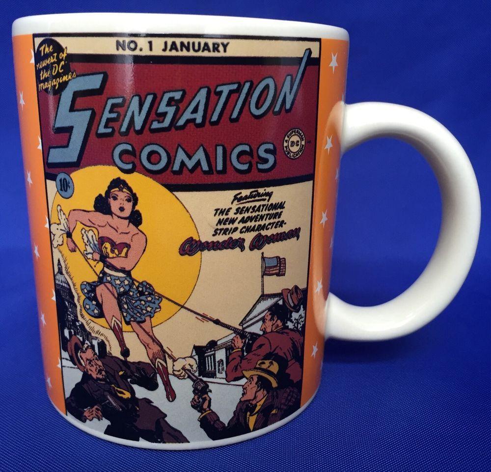 Wonder Woman Mug Dc Sensation Comics Strip 1 Classic 1993 Coffee Cup Character Mugs Comic Strips Wonder Woman