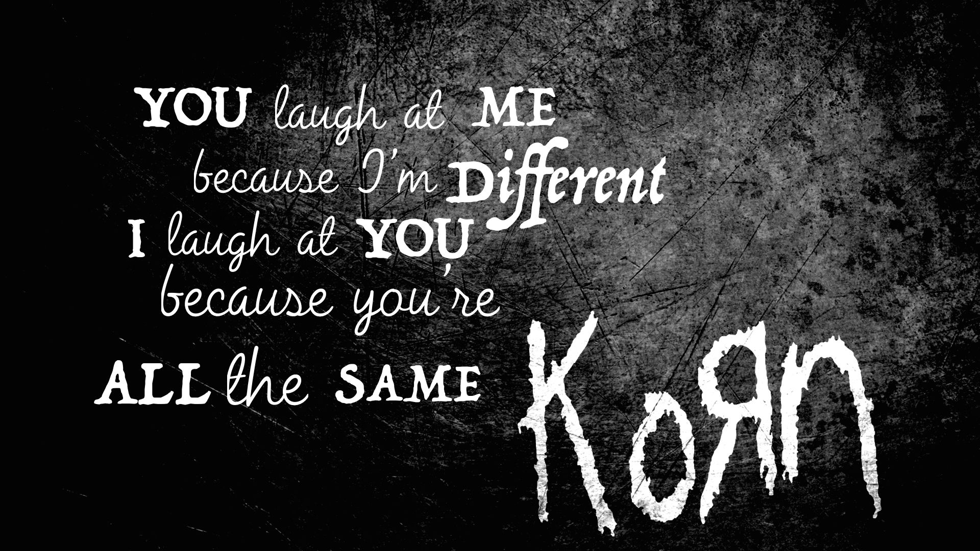 Korn Quote Wallpaper Made This About Two Years Ago Korn Rock Music Lyrics Music Wallpaper