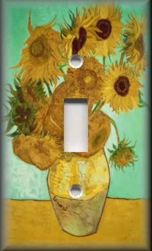 Light Switch Plate Cover - Van Gogh - Sunflowers 01 - Wall Decor ...