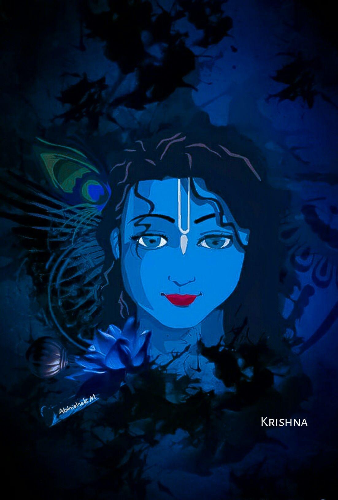 Pin by Abhishek M on Love | Krishna wallpaper, Lord ...