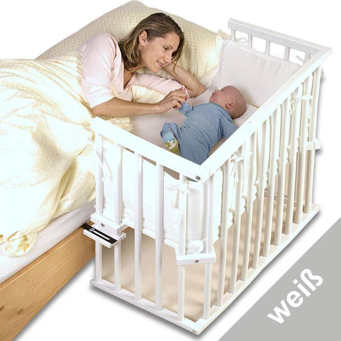 Tobi Babybettchen Babybay Midi Buche Lackiert Weiss 120102 Babybay Beistellbett Babybay Midi