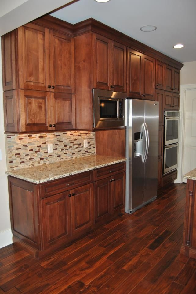Like Wood Color Nutmeg Birch Maple Kitchen Cabinets