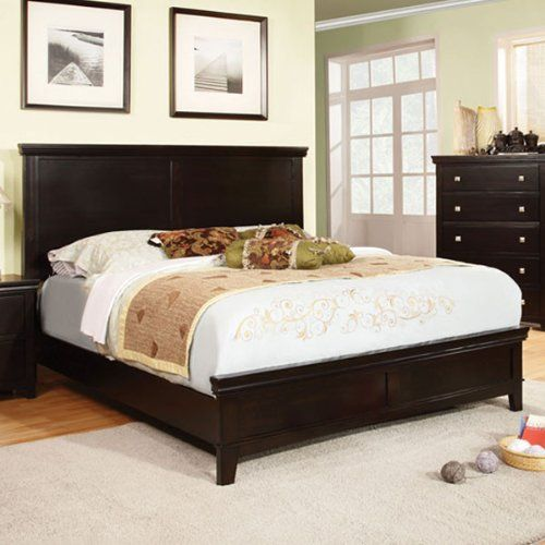 Dunhill Transitional Style Espresso Finish Eas King Size Bed Frame