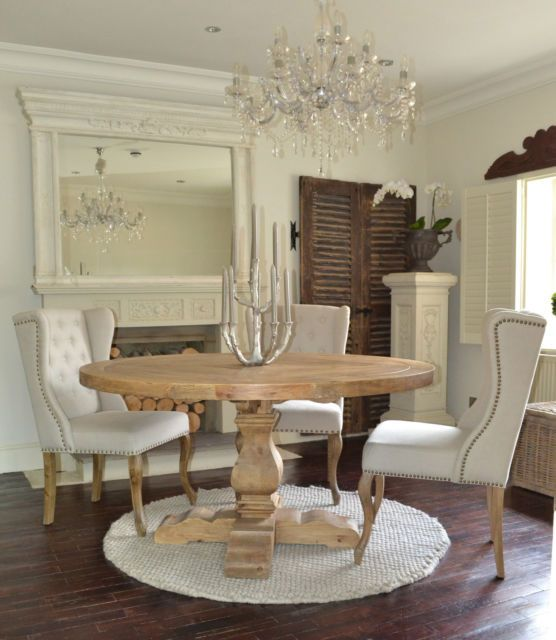 Reclaimed Round Pinewood Dining Table  Kitchen Tables  Pinterest Adorable Natural Wood Dining Room Tables Design Decoration